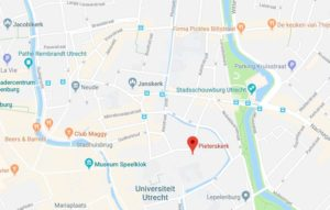 Google maps Pieterskerk Utrecht
